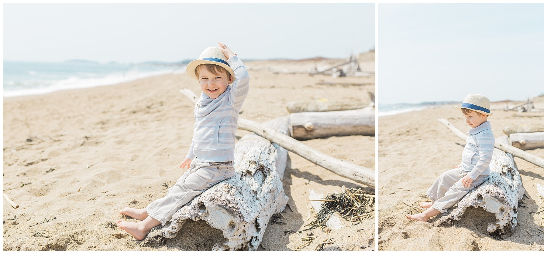 fashionable boy and girl toddler portrait session at the beach at reid state park in georgetown, maine, children's portrait photographer