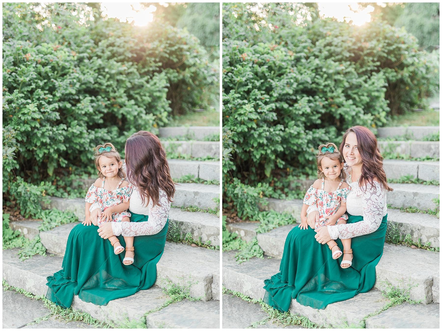 camden amphitheater and mt battie family portrait session